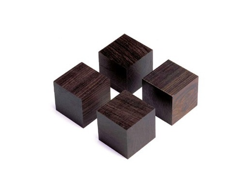 Yamamoto QB-3 Piedini in legno di ebano nero africano (Set di 4)