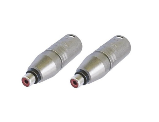Adaptors Neutrik male XLR/female RCA (Set of 2)