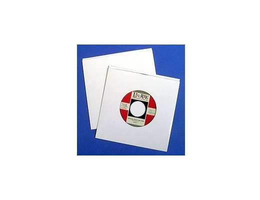 Copertine 45 giri in cartone bianco senza foro - Set da 10