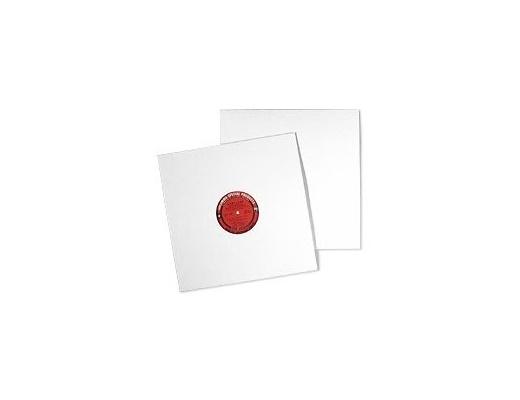 Copertine LP in cartone bianco senza foro - Set da 10