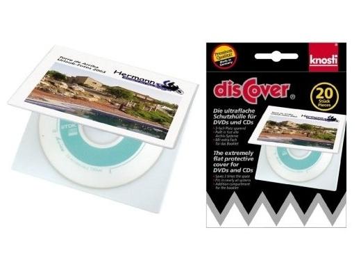 Knosti disCover 20 custodie ultrapiatte per CD/DVD