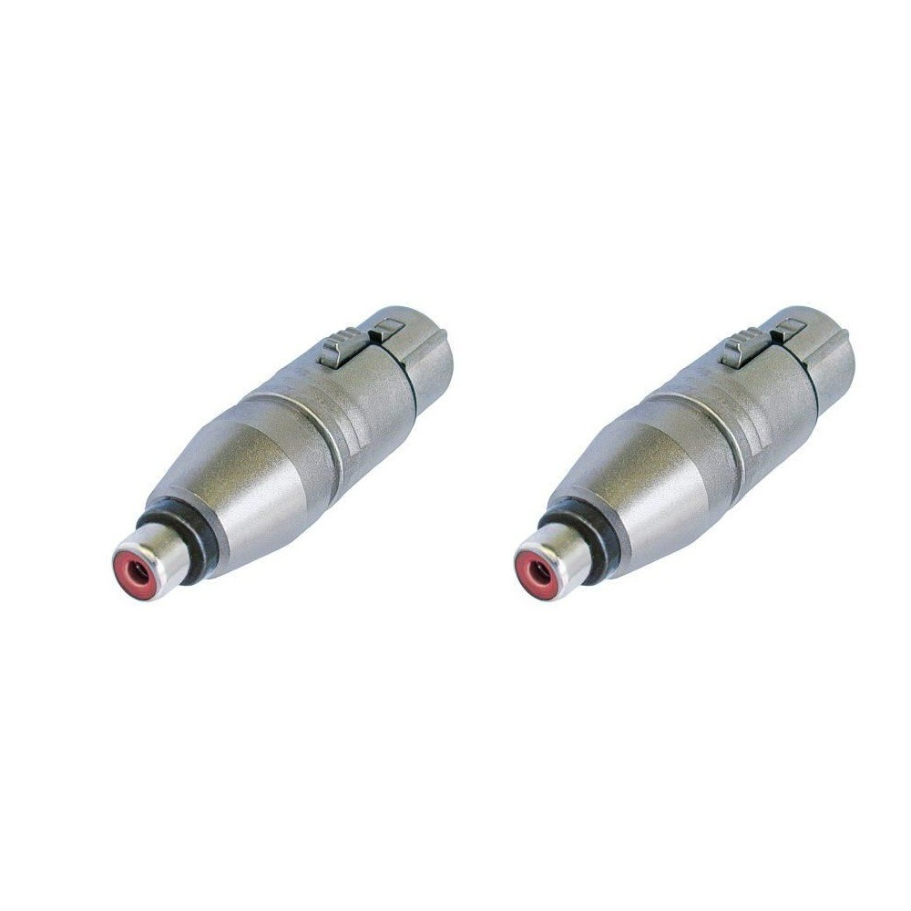 Adaptors Neutrik female XLR/female RCA (Set of 2)