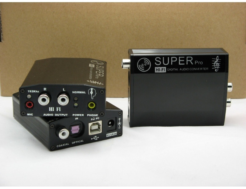 SuperPro 707 DAC USB with headphone out and digital in/out