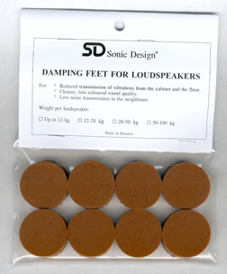 Sonic Design Loudspeaker Standard Damping Feet (Set of 8)