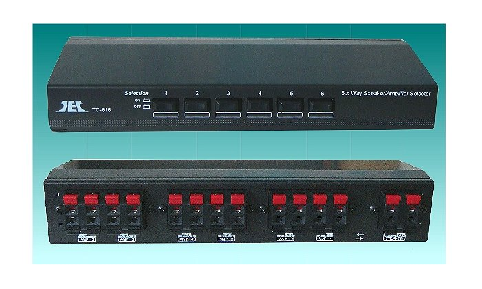 TCC TC-616 Six Way Stereo Speaker/Amplifier selector