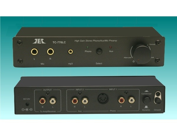 TCC TC-770LC Phono/Line/mic High Gain Preamplifier