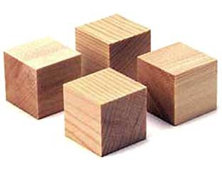 Yamamoto QB-1 Cube base made from spruce (Set of 4)