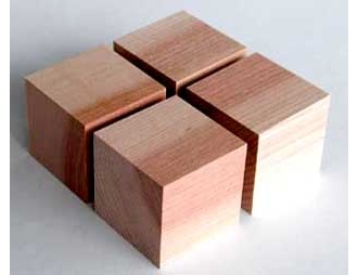 Yamamoto	QB-2 Cube base made from Asada Cherry (Set of 4)