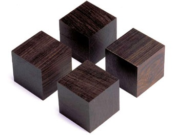 Yamamoto QB-3 Cube base made from African ebony (Set of 4)