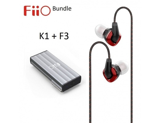 FiiO K1 Portable USB Headphone Amplifier/DAC + F3 IEM headphones BUNDLE