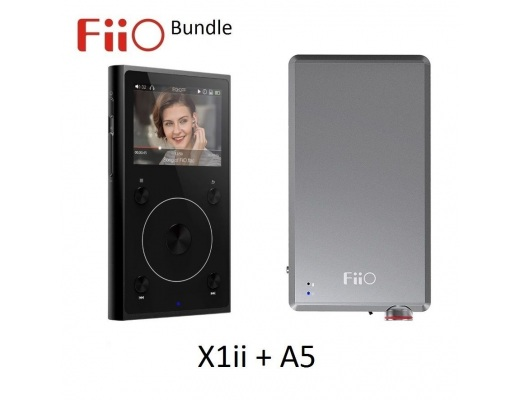 FiiO X1ii 2nd Gen High Res Music (FLAC/WAV) Player + A5 Headphone Amp BUNDLE