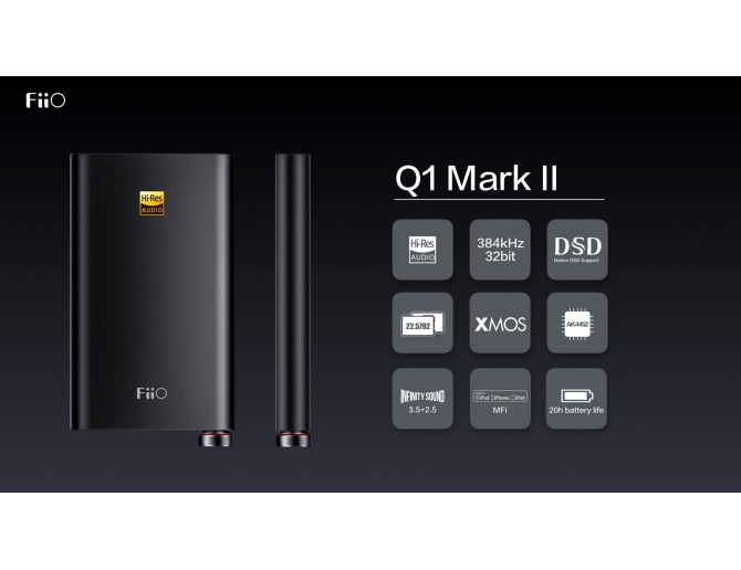 FiiO Q1 Mark II Portable DAC USB and Headphone Amp