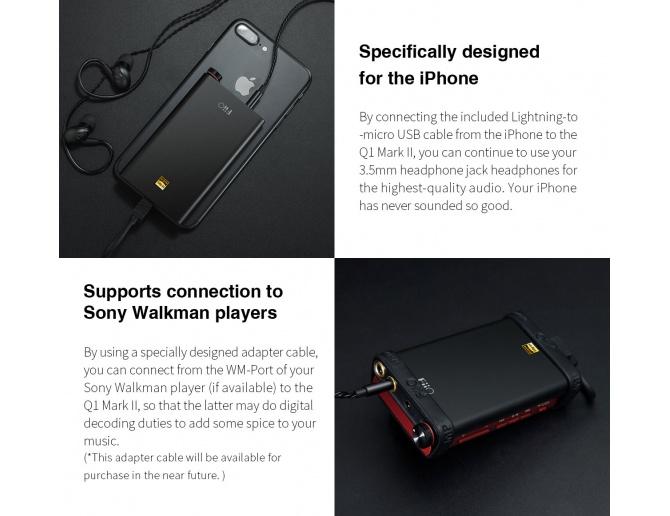 FiiO Q1 Mark II Portable Headphone Amp & DAC