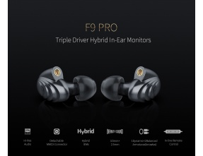 FIIO F9 PRO IEM Triple Dynamic Driver Knowles Hybrid MMCX Detachable Cable +Balanced