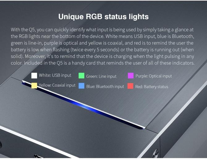 FiiO Q5 DAC Amplificatore con Dual DAC, DSD, USB e Ingresso digitale ottico/coassiale e Line-In
