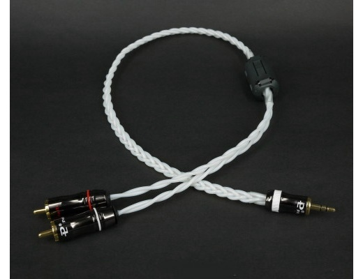 Trends Audio CQ-201 3.5mm to RCA Audiophile Silver cable (1m)