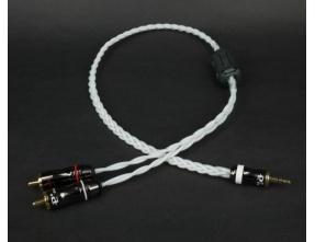 Trends Audio CQ-201 3.5mm to RCA Cavo Audiofilo - Silver (1m)