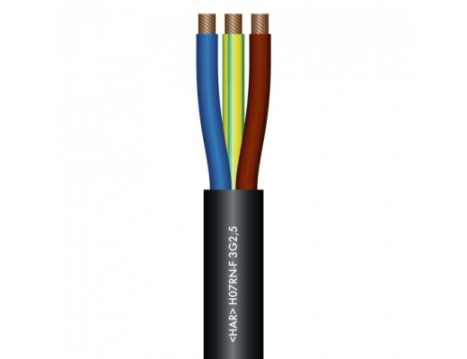 Sommer Cable Titanex Rubber Sleeve Power Cable (1m cut-sales)