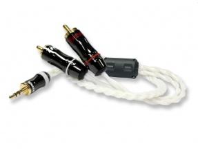 Trends Audio CQ-201 Silver Cavo di Segnale stereo minijack/RCA 1m