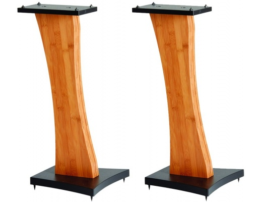 Quadraspire Q60 Speaker Stands Pair Bamboo