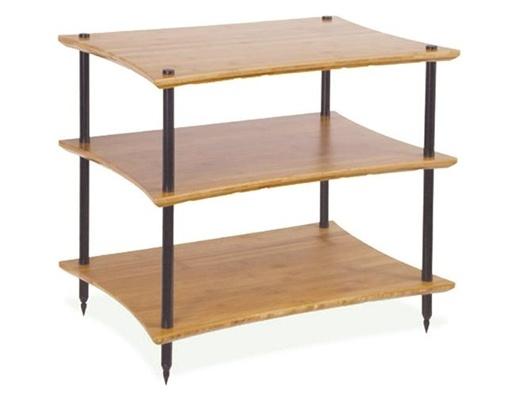 Quadraspire Q4EVO Bamboo Three Shelves Hi-Fi Rack