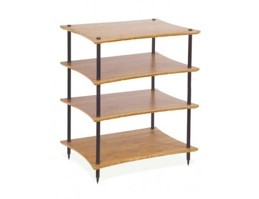 Quadraspire Q4EVO Bamboo Four Shelves Hi-Fi Rack