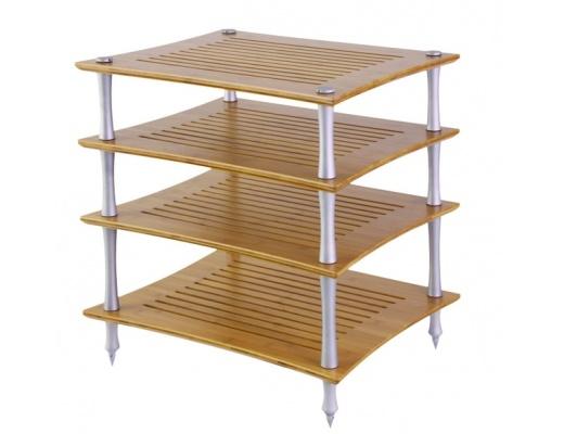 Quadraspire Sunoko-Vent T Bamboo Four Shelves Hi-Fi Rack
