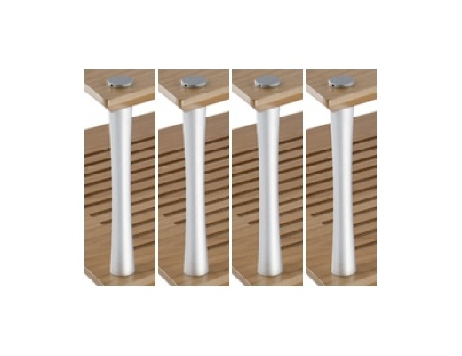 Quadraspire Colonne Primo Ripiano da 32mm (Set di 4)