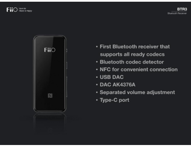 FiiO BTR3 Amplificatore Portatile Bluetooth ad Alta Fedeltà