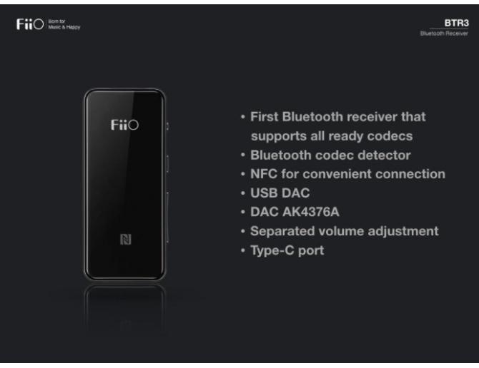 FiiO BTR3 Portable High-Fidelity Bluetooth Amplifier