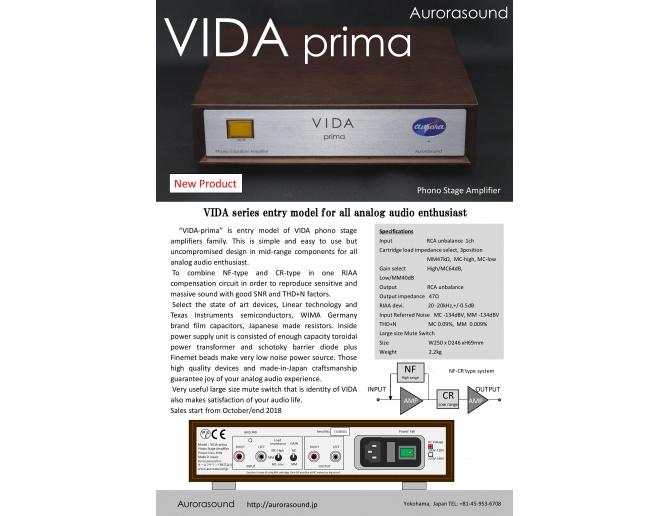 Aurorasound VIDA Prima Phono Preamplifier