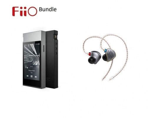 FiiO FH5 In-Ear Monitors + FiiO M7 Hi-Res Lossless Digital Audio Player Bluetooth - Bundle