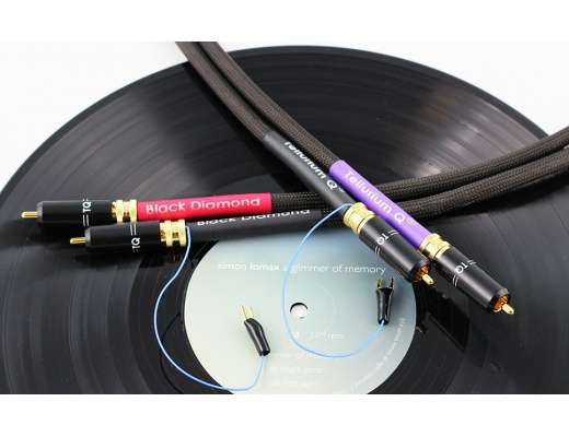 Tellurium Q Black Diamond Turntable RCA Cavo analogico per giradischi 1m [b-Stock]