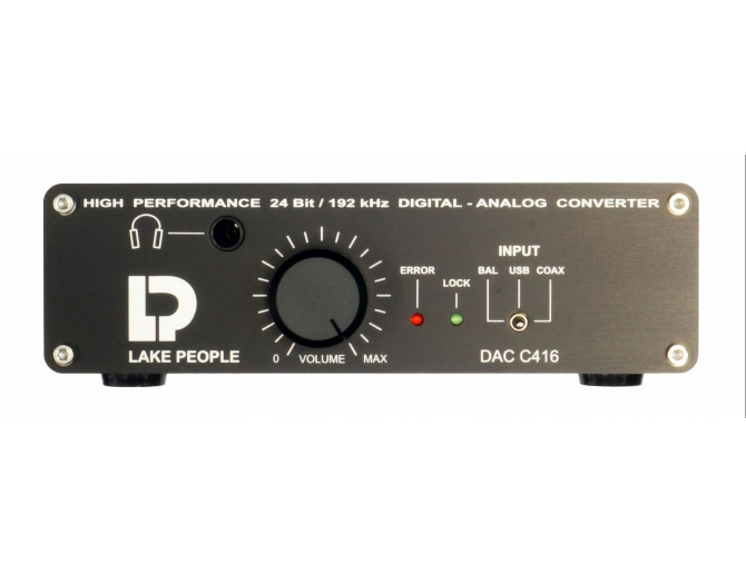 Lake People C416-H 24/192 Stereo D/A Converter with Headphone Amplifier