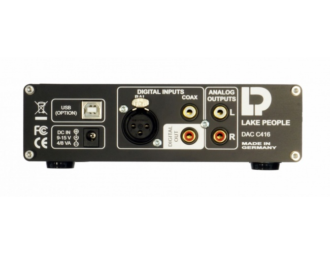 Lake People C416-H DAC 24/192 con Amplificatore per Cuffie