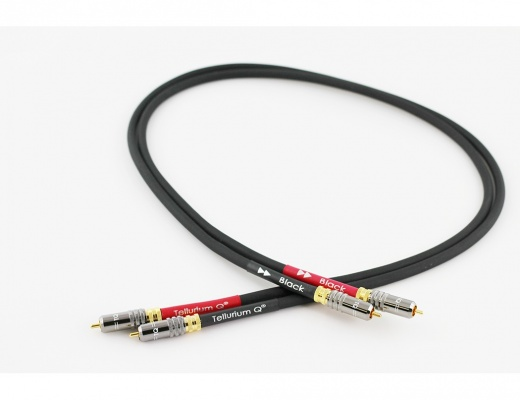 Tellurium Q Black RCA Interconnects 1 meter[b-Stock]
