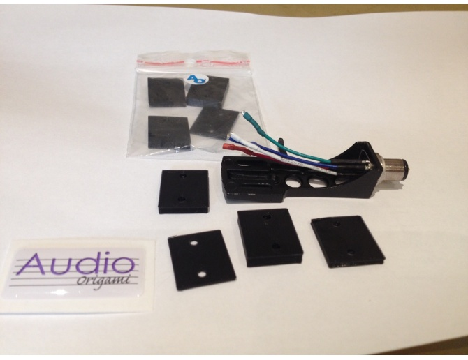 Audio Origami Cartridge Headshell Shims (4 pack)