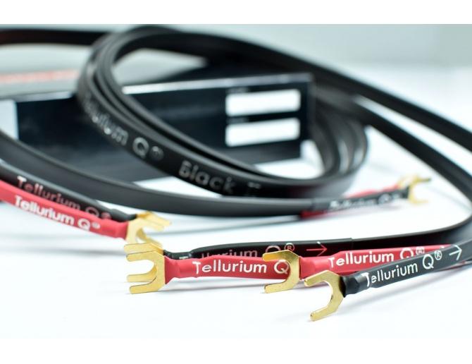 Tellurium Q Black II Speaker Cables Spade terminated