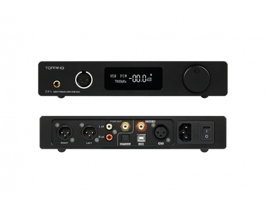 Topping DX7S 2ES9038Q2 M 32BIT/768 K DSD512 DSD USB Amplificatore DAC bilanciato per cuffie