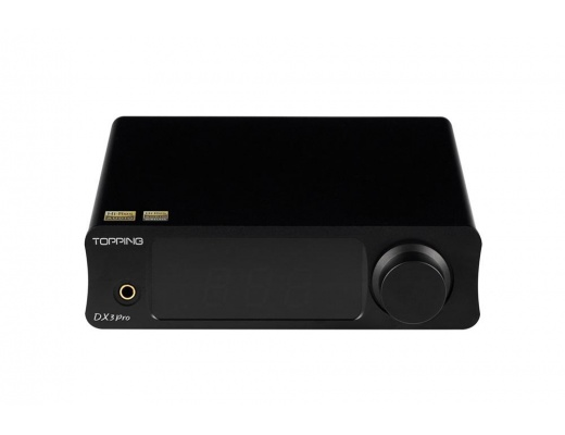 TOPPING DX3 Pro LDAC Edition AK4493 TPA6120A2 Amplificatire DAC Hifi USB Bluetooth (NERO)