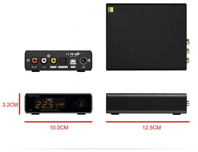 Topping E30 DAC USB AK4493 multi-input