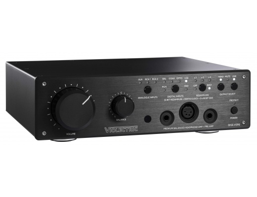 Violectric DHA V590: reference quality DA converter, 32 bit resampler and headphone amplifier