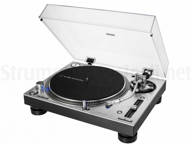 Audio Technica AT-LP140XP SV Professional DJ Turntable (Silver)