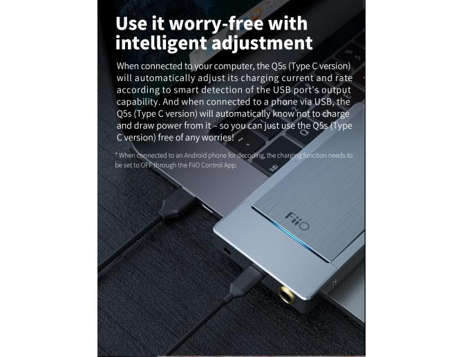 FiiO Q5s TC Portable DAC & Headphone Amplifier Bluetooth DSD