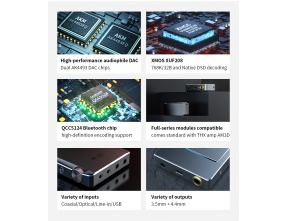 FiiO Q5s TC DAC portatile con Amplificatore per Cuffie Bluetooth e DSD