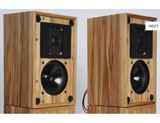 Stirling Broadcast LS3/5a V2 Loudspeakers pair English Oak finish [b-Stock]