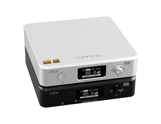 Topping D50s DAC +USB Hi-Res with Bluetooth AptX LDAC Input [b-Stock]