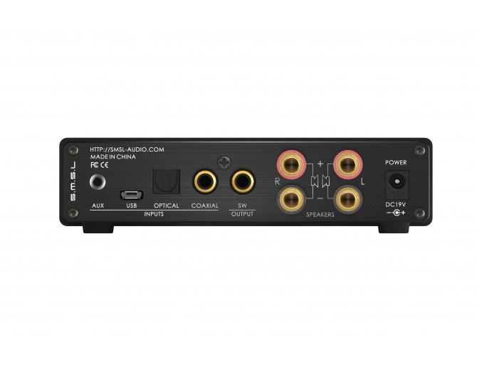 SMSL Q5 PRO FDA Amplifier TAS5342 2x45W + Subwoofer output / 4 Ohm CS5341 SA9023