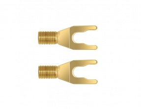 Terminale a forcella WireWorld Uni-Term Gold per sostituz (Set di 2)