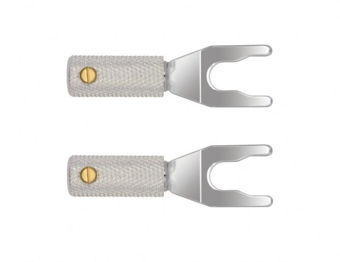 Forcelle WireWorld Uni-Term Silver con attacco universale (Set di 2)